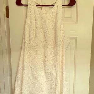White Lace Lilly Pulitzer dress with zip back NWT